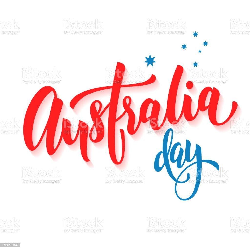 Happy Australia Day poster Australian flag vector greeting card vector art illustration