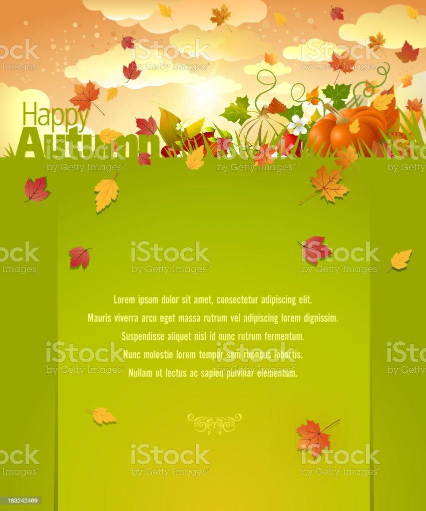 Happy Autumn Background vector art illustration