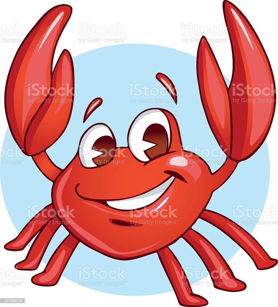 Happy Baby Crab vector art illustration