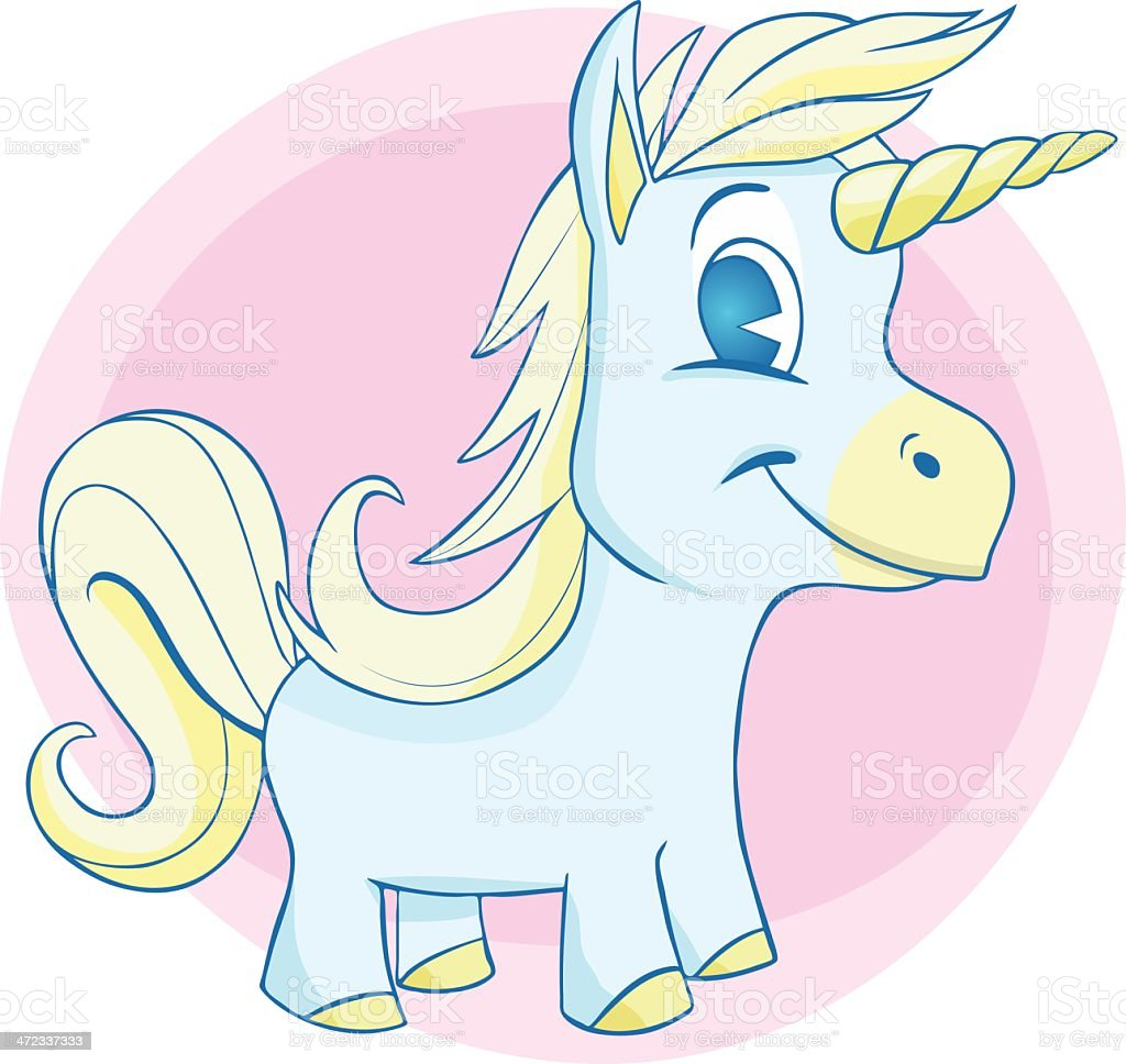 Happy Baby Unicorn royalty-free stock vector art