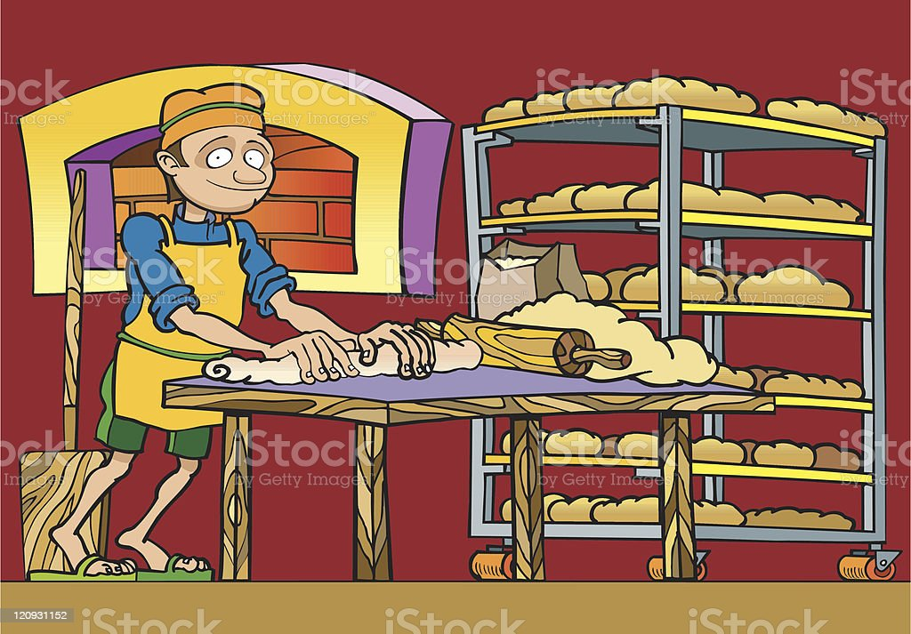 Happy Baker royalty-free stock vector art