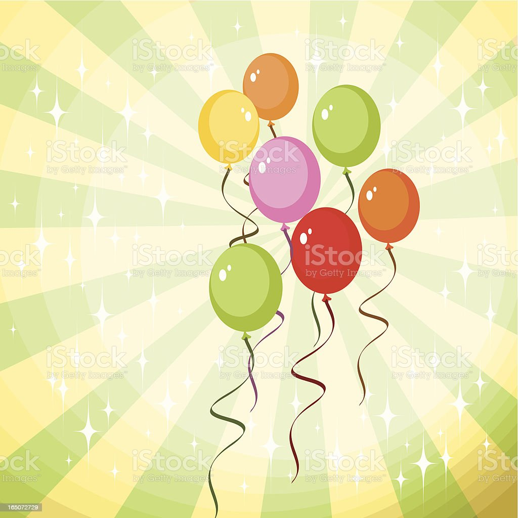 Happy Balloons royalty-free stock vector art