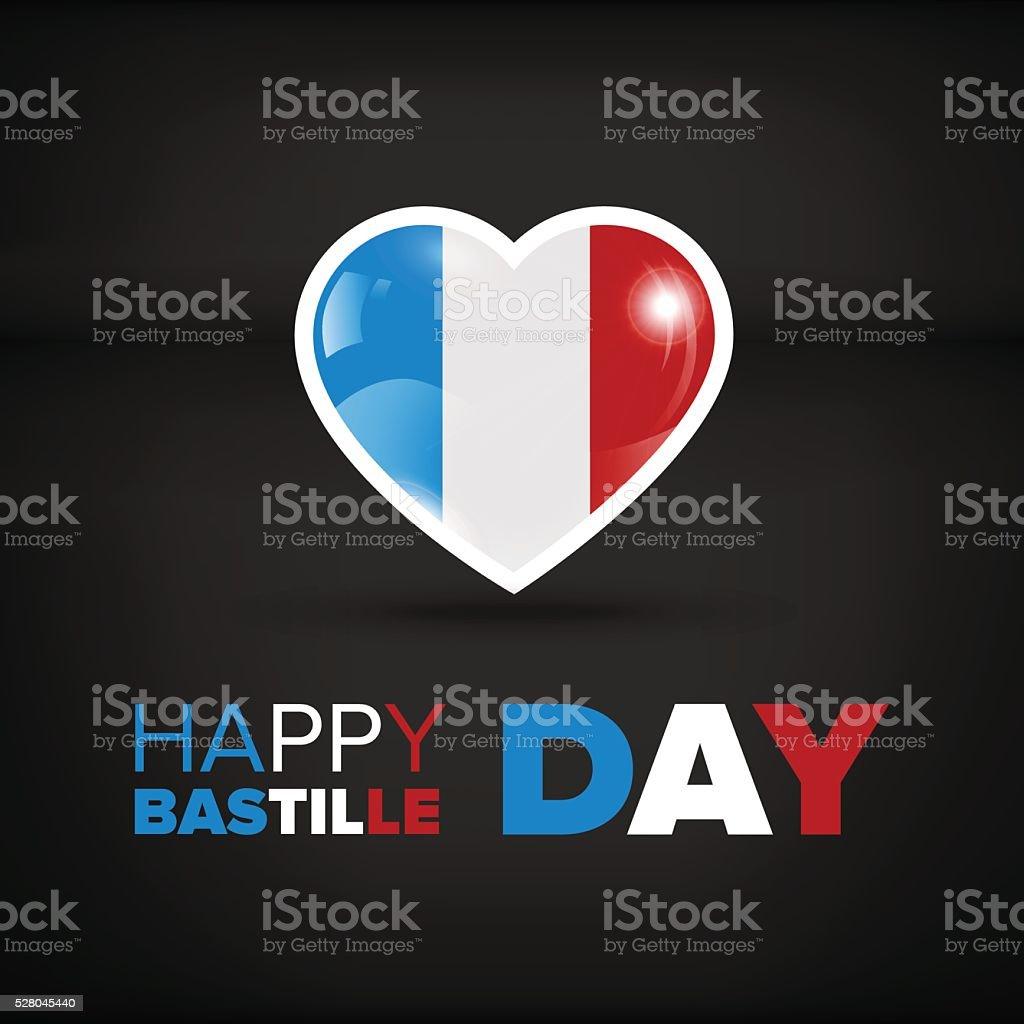 Happy Bastille day vector art illustration