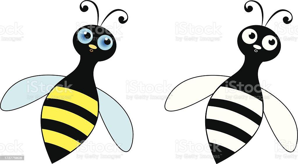 Happy bee royalty-free stock vector art