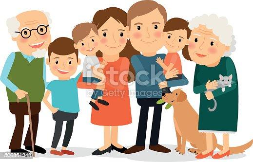 clipart big family - photo #33