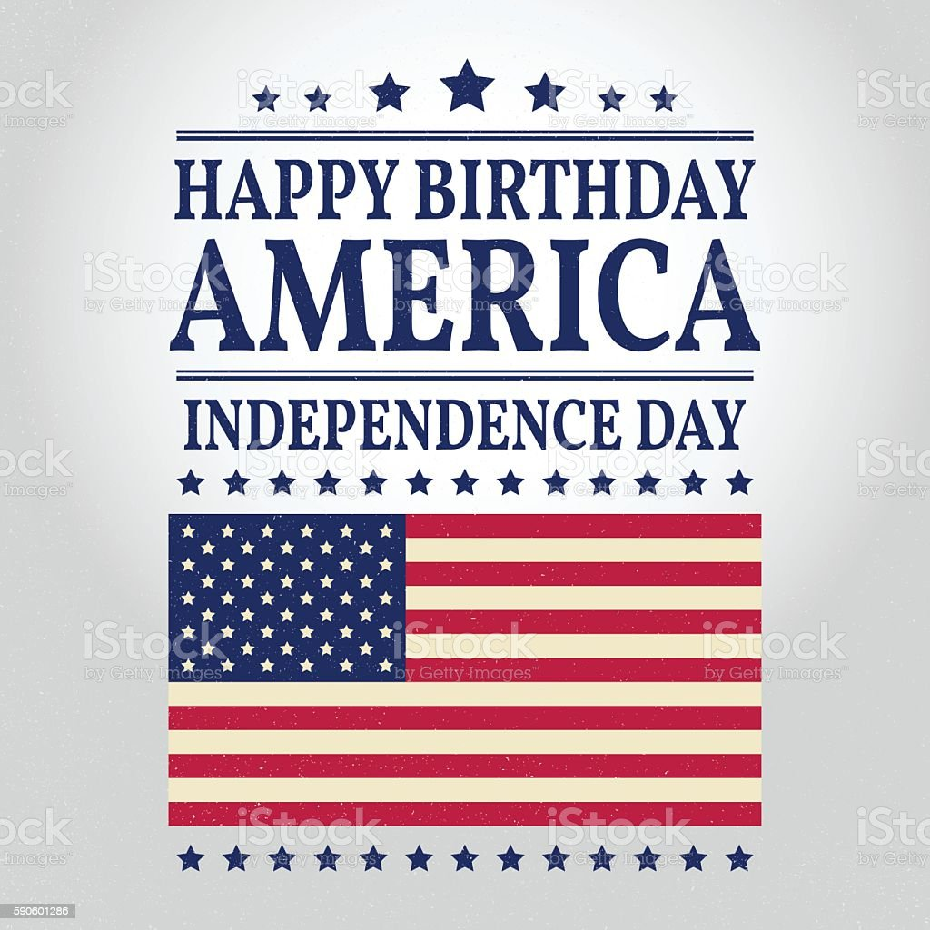 Happy Birthday America. vector art illustration