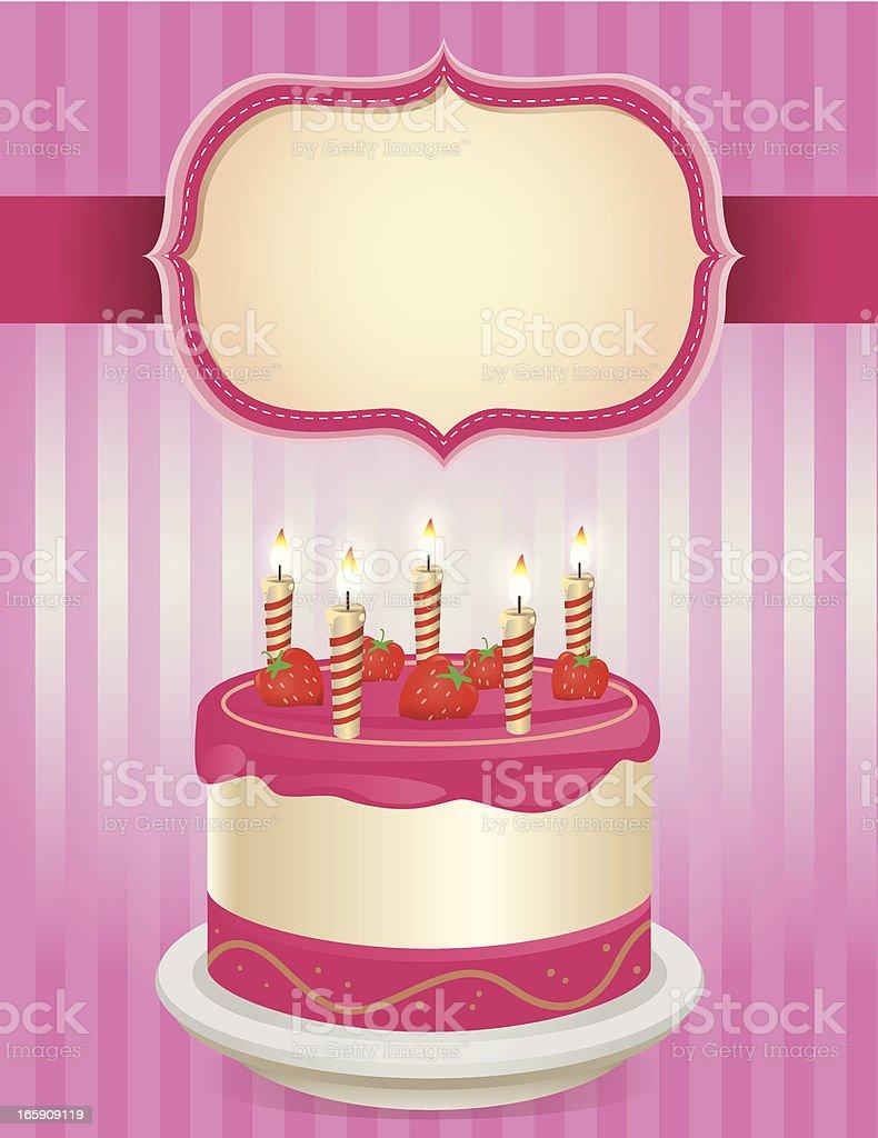 Happy Birthday Cake royalty-free stock vector art