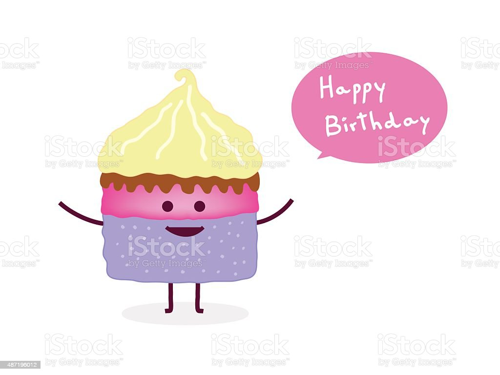 Birthday Cake Images Vektor ~ Happy birthday cake vector illustration stock vector art