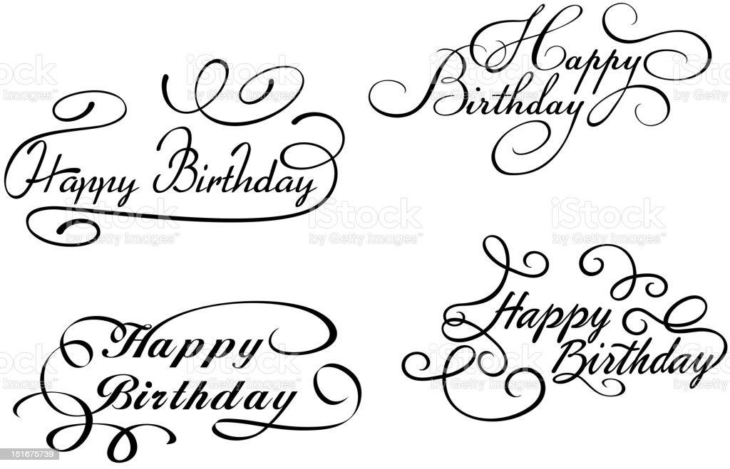 Трафареты с днем рождения на английском 8
