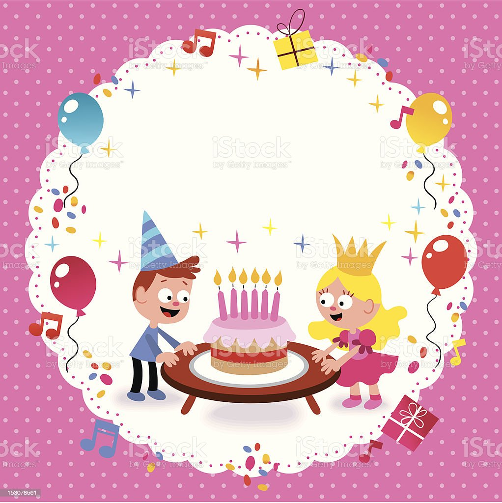 Happy Birthday Card Template stock vector art 153078561 – Birthday Cake Card Template