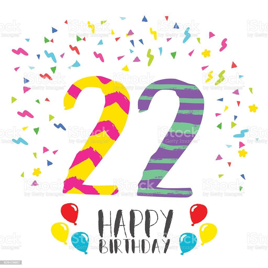 Поздравление с днем рождения с 22 97