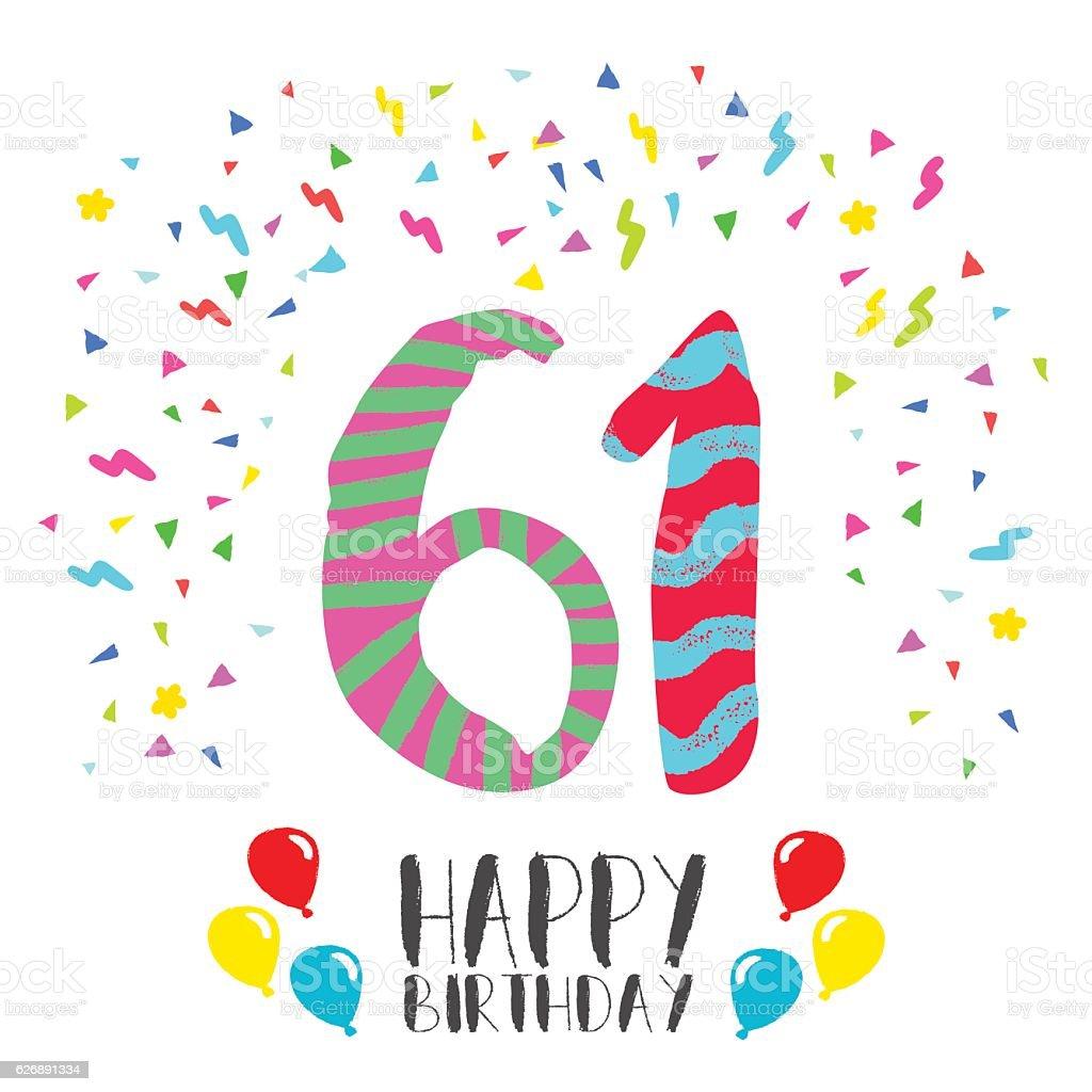 Поздравление с днем рождения с 61 летием