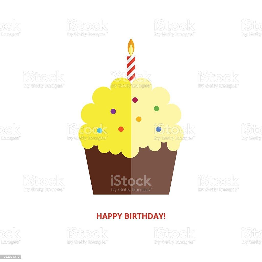 Happy birthday greeting card vector art illustration