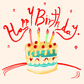 Happy Birthday illustration.