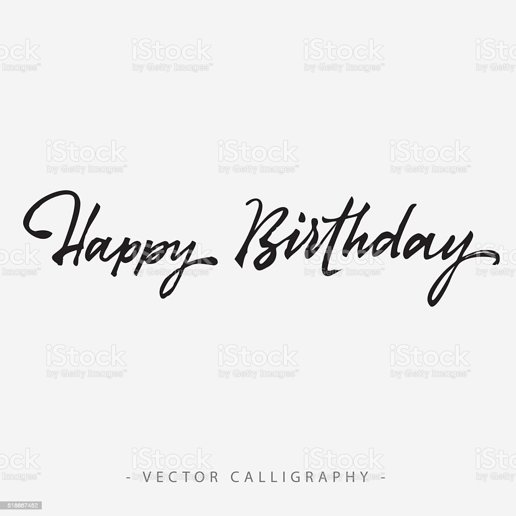 Happy Birthday Inscription 1 vector art illustration