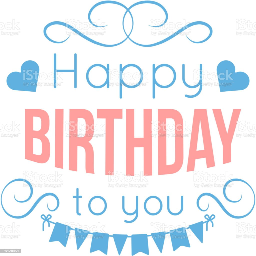 Happy Birthday Lettering Maker ~ Happy birthday lettering stock vector art istock