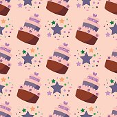 Happy Birthday pattern vector.