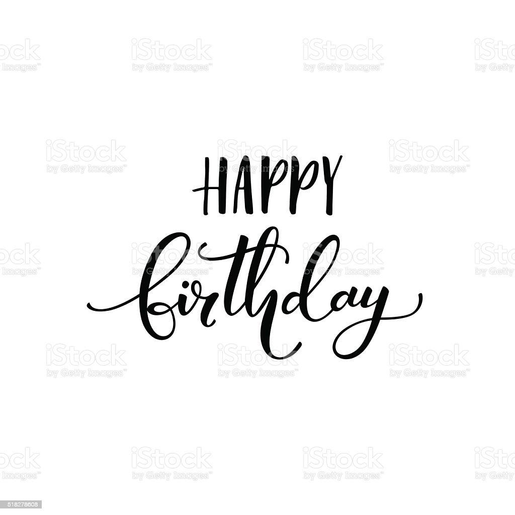 Happy birthday phrase. vector art illustration