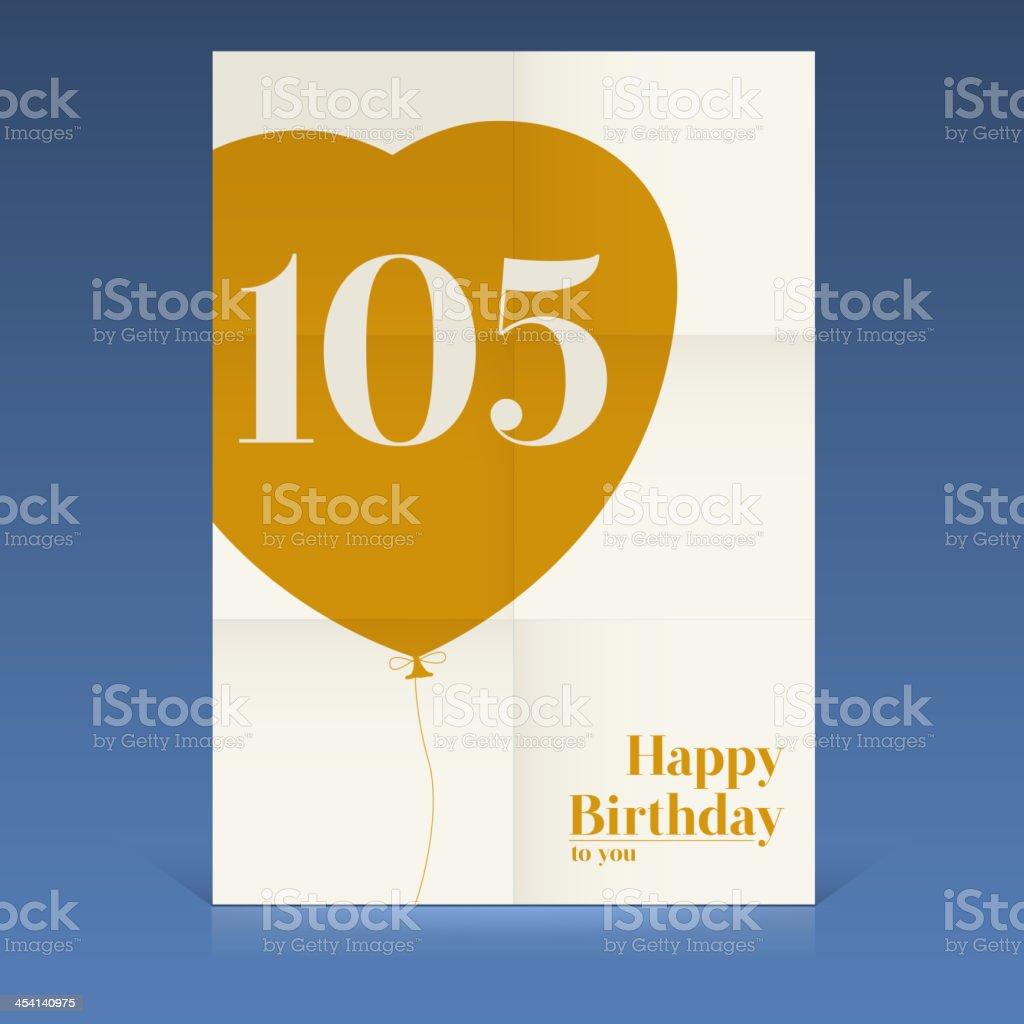 Happy birthday poster vector art illustration