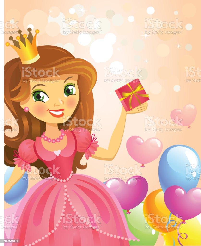 Поздравительная открытка для девочки на день рождения