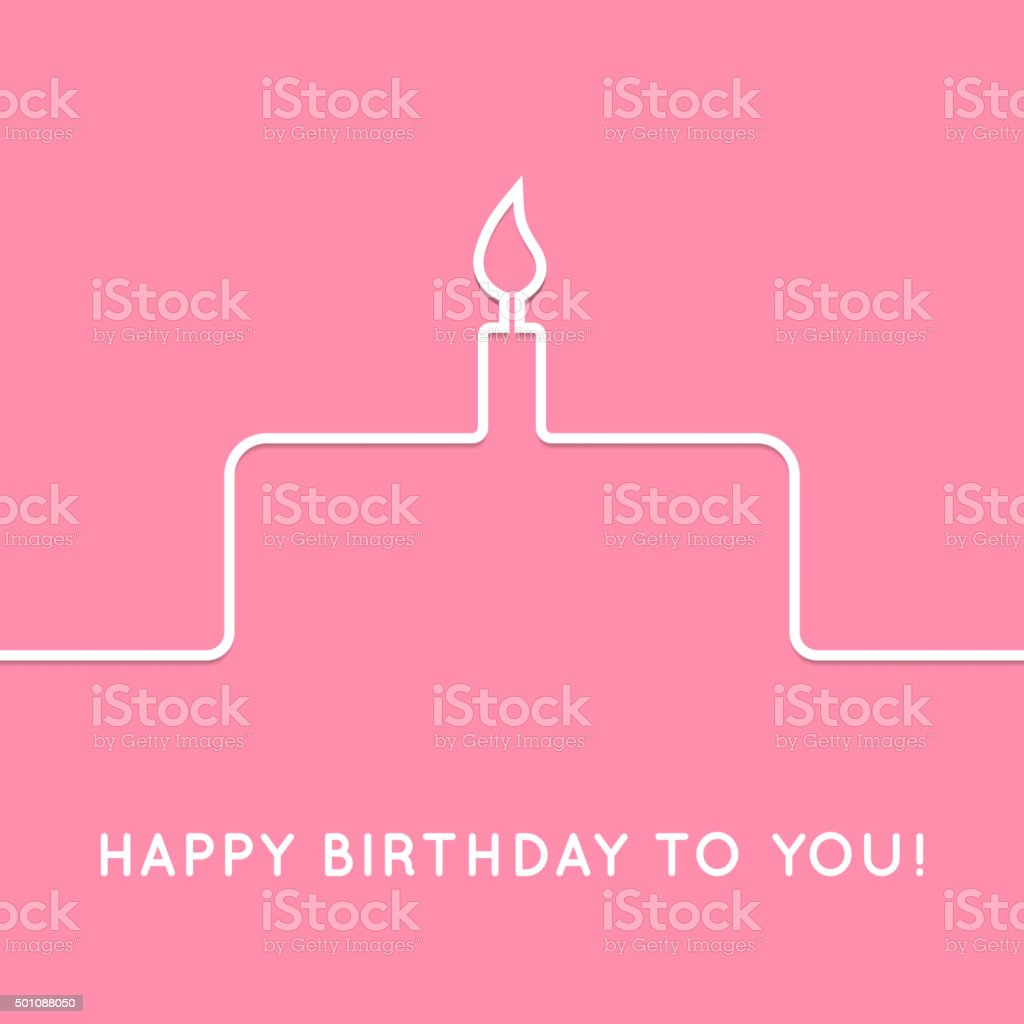 Happy birthday retro postcard with cake icon. Vector illustration vector art illustration