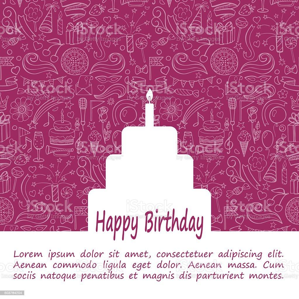 Happy Birthday Template vector art illustration