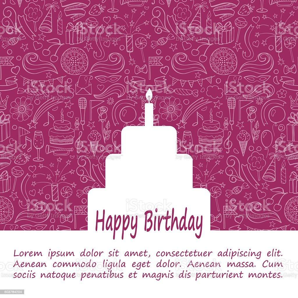 Happy Birthday Template vector art illustration