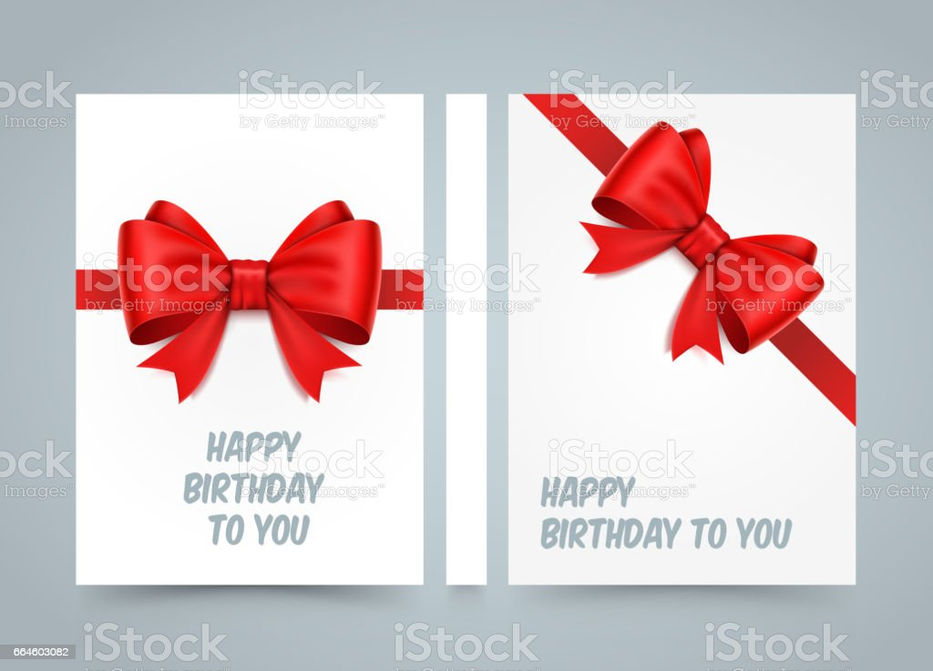 Happy Birthday To You Bow On White Paper Banner Road Book A4 Size