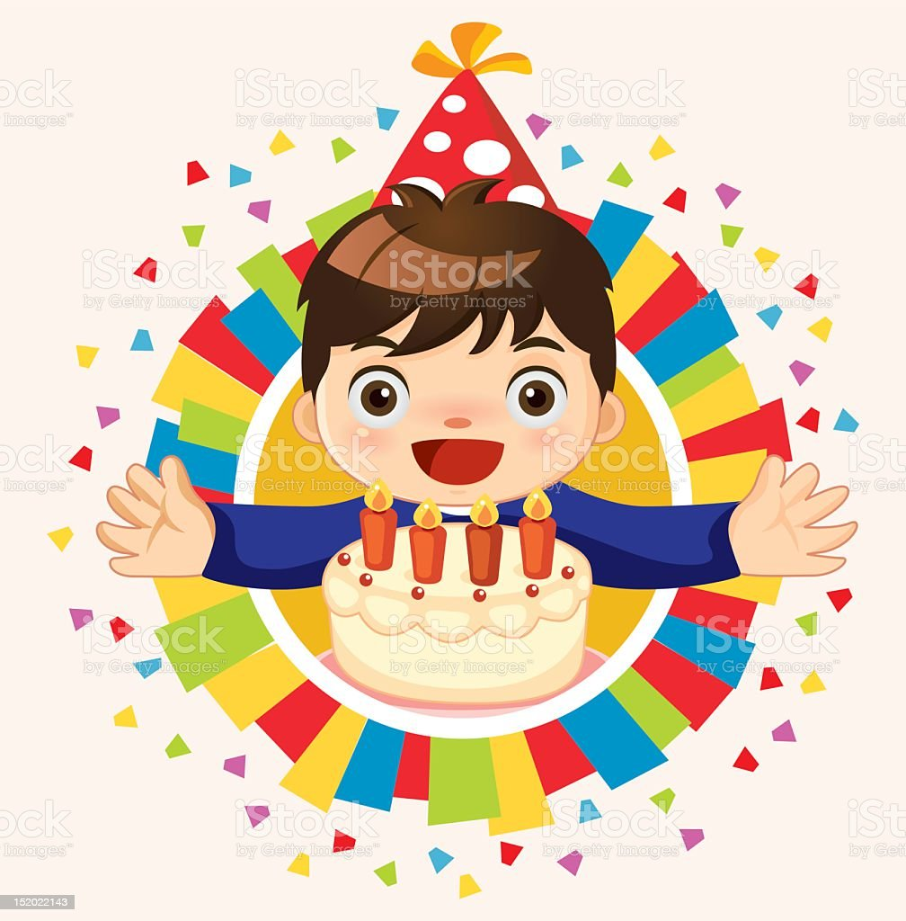 Happy birthday to you vector art illustration