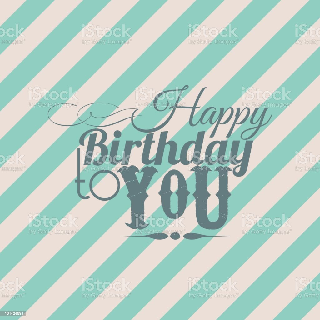 Happy birthday to you royalty-free stock vector art
