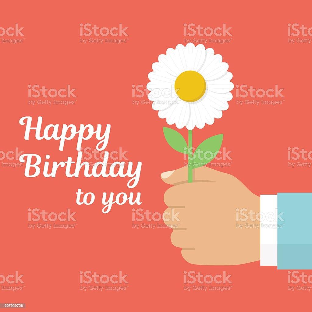 Happy birthday to you vector art illustration