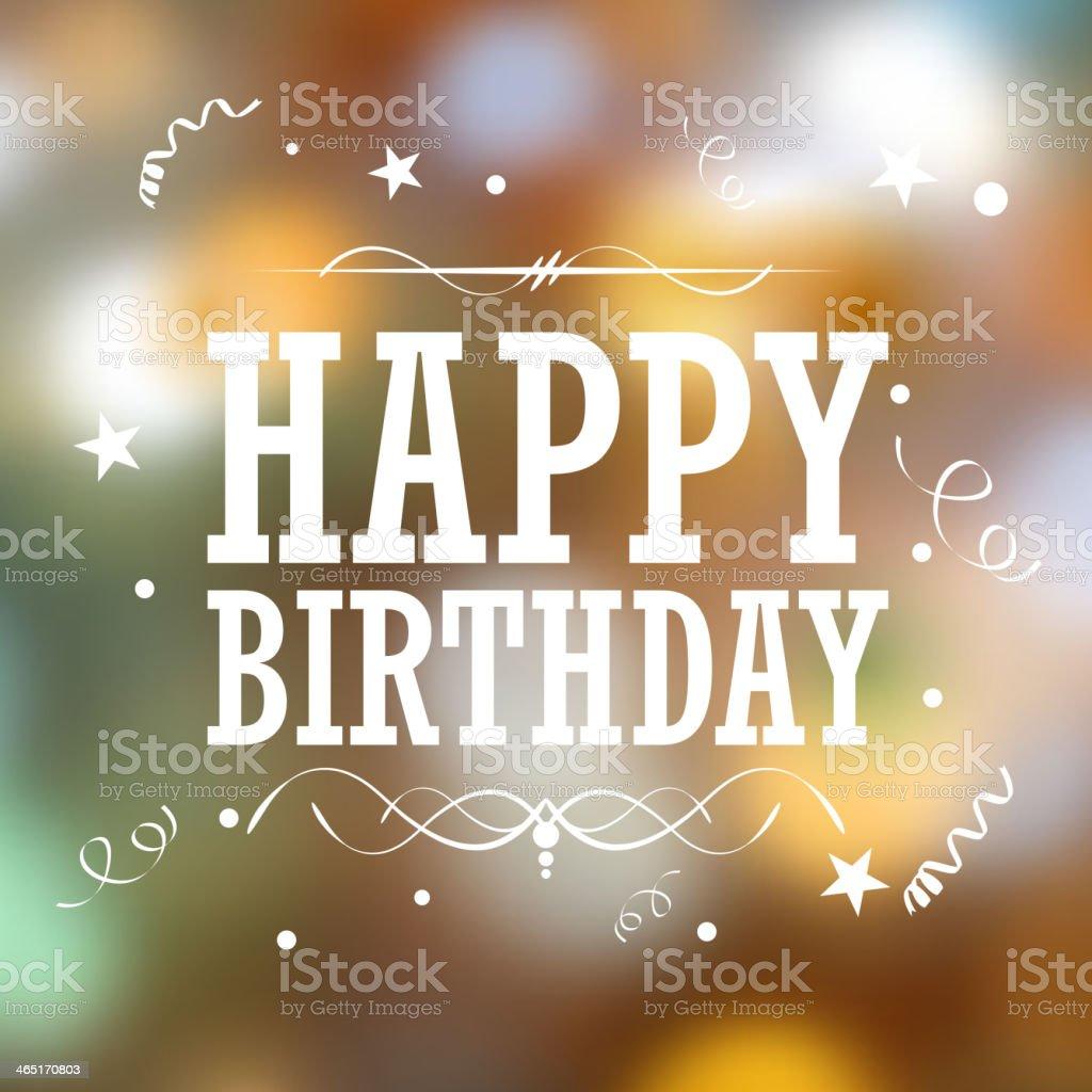 Happy Birthday Typography Background vector art illustration