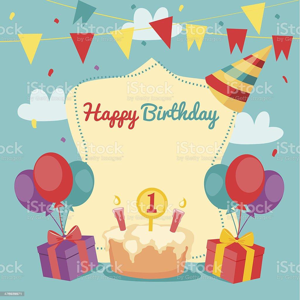 Открытка на день рождения в векторе 38