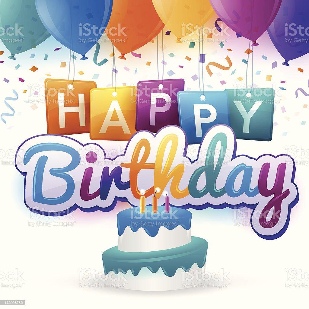 Happy Birthday vector art illustration