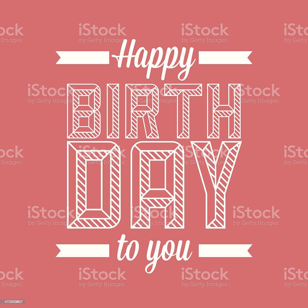 Happy birthday royalty-free stock vector art