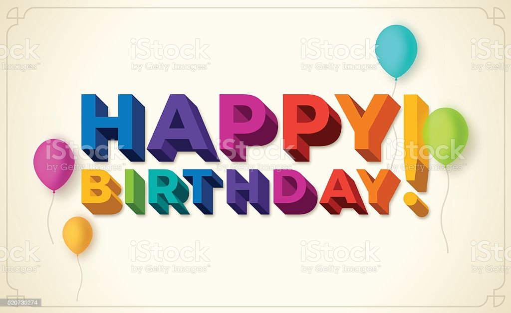 Happy Birthday! vector art illustration