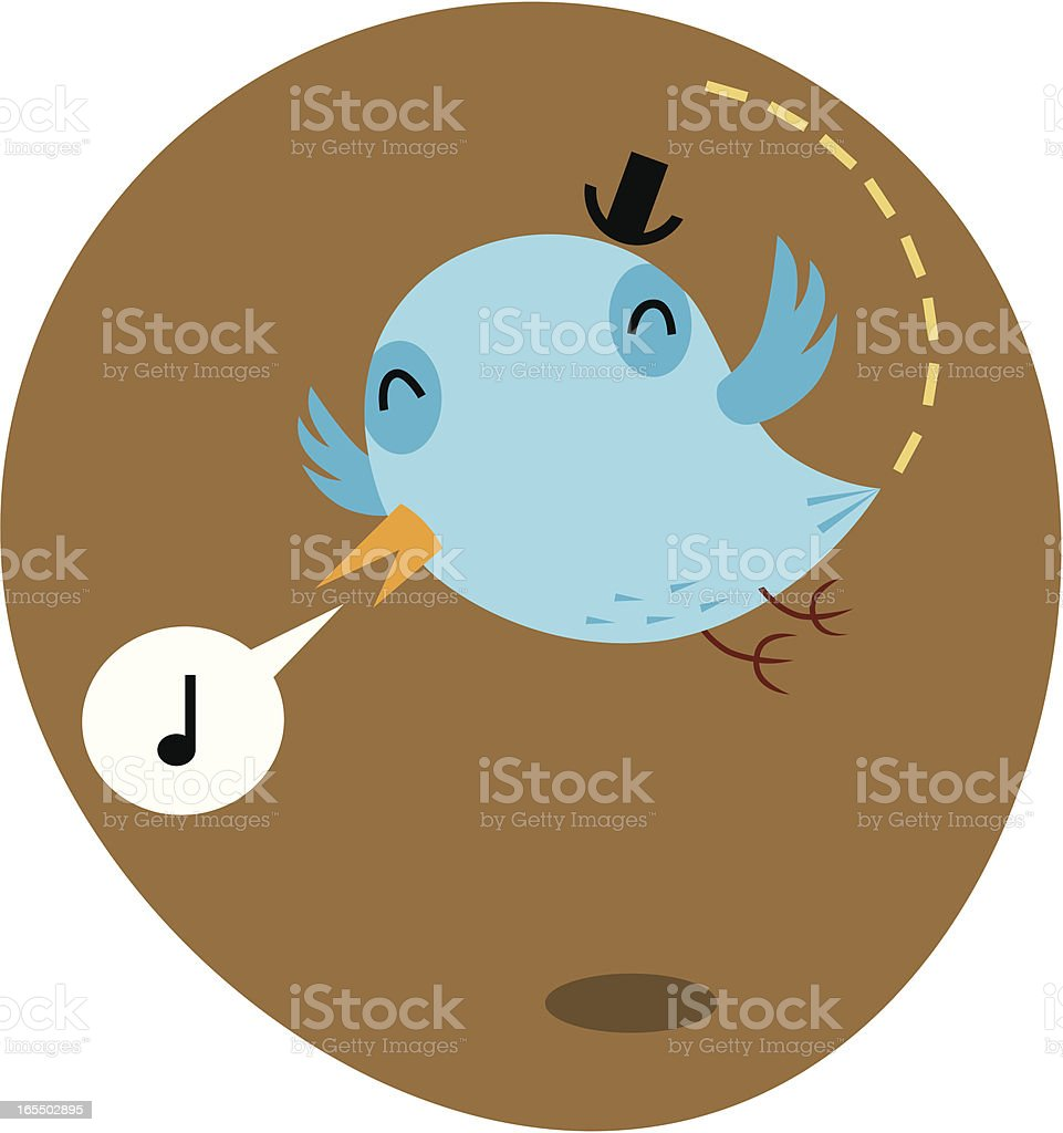 Happy Bluebird royalty-free stock vector art
