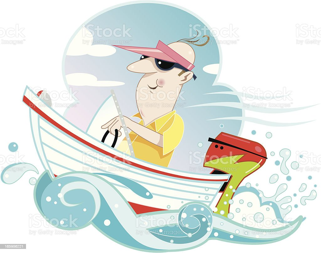 Happy Boater royalty-free stock vector art