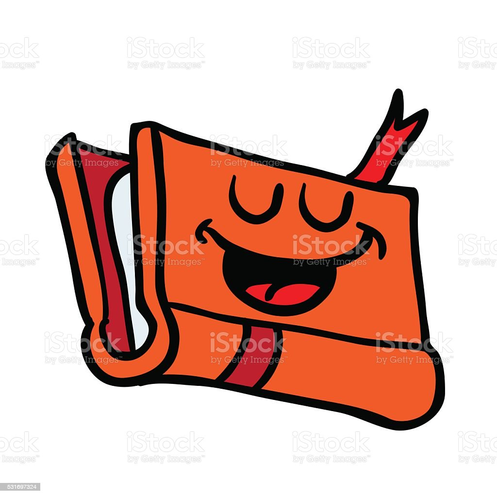 happy book vector art illustration