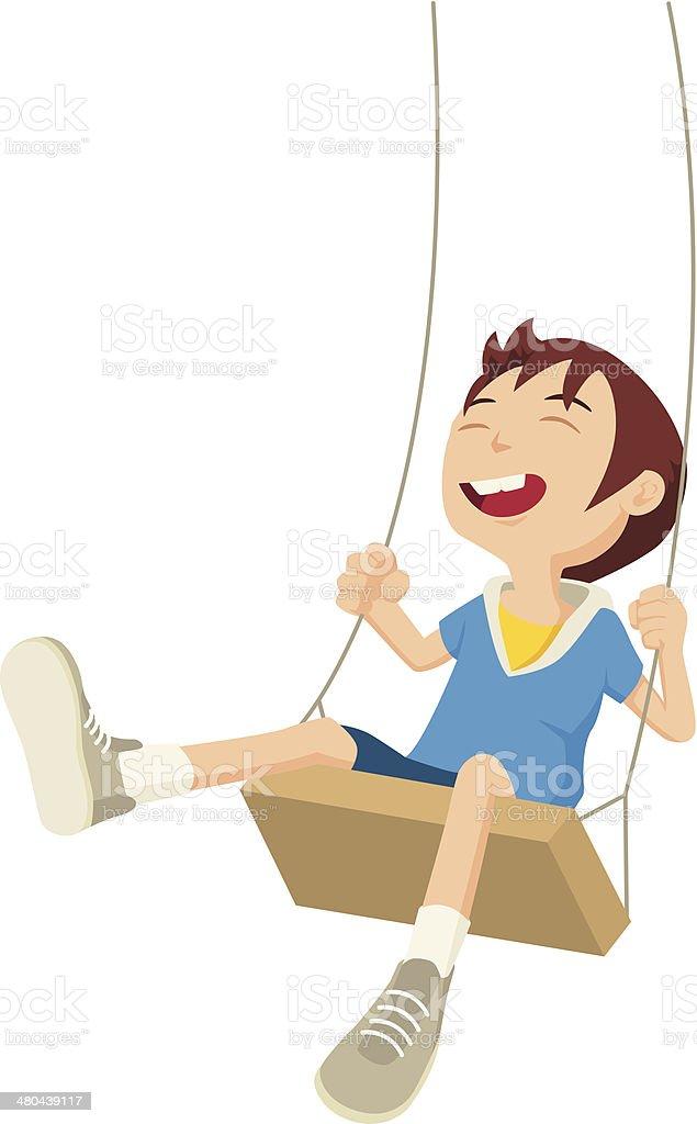 Happy Boy vector art illustration