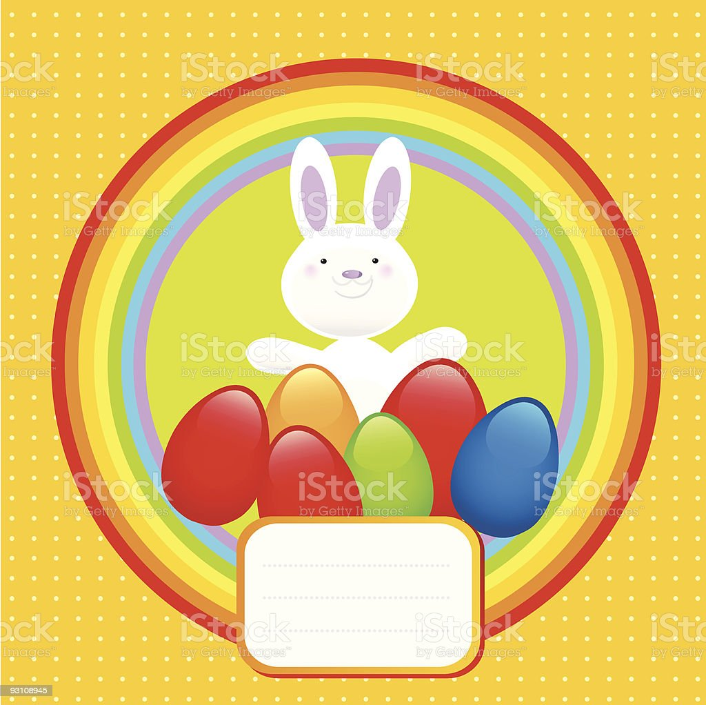 happy bunny easter symbol royalty-free stock vector art