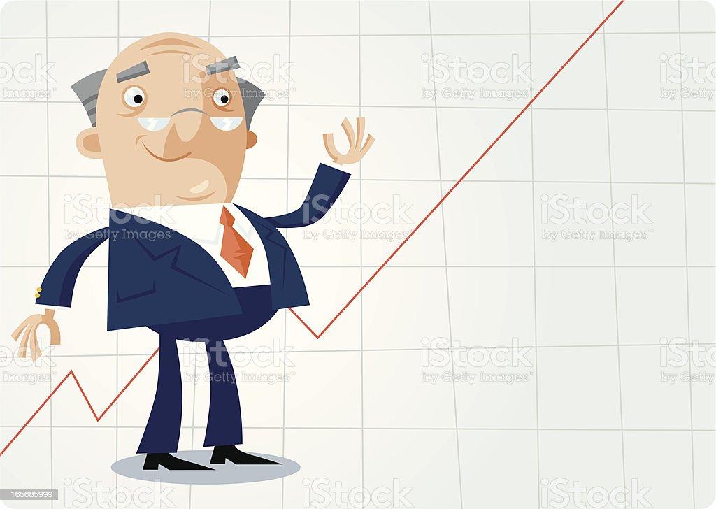 Happy Businessman royalty-free stock vector art