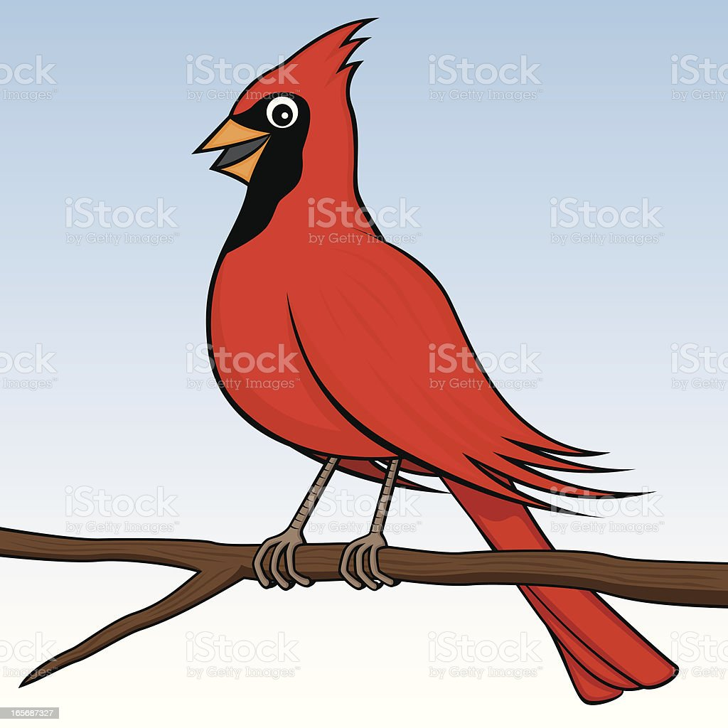 Happy Cardinal royalty-free stock vector art
