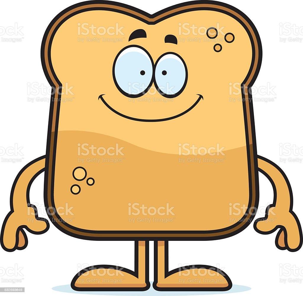 Happy Cartoon Toast vector art illustration