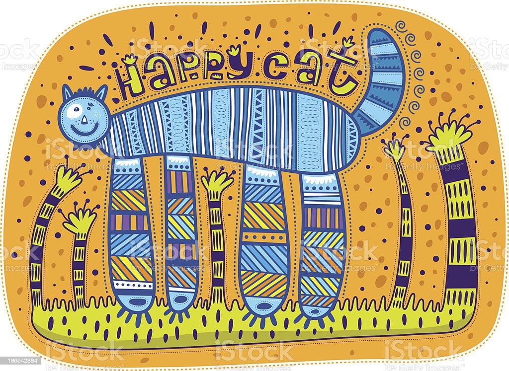 Happy cat royalty-free stock vector art