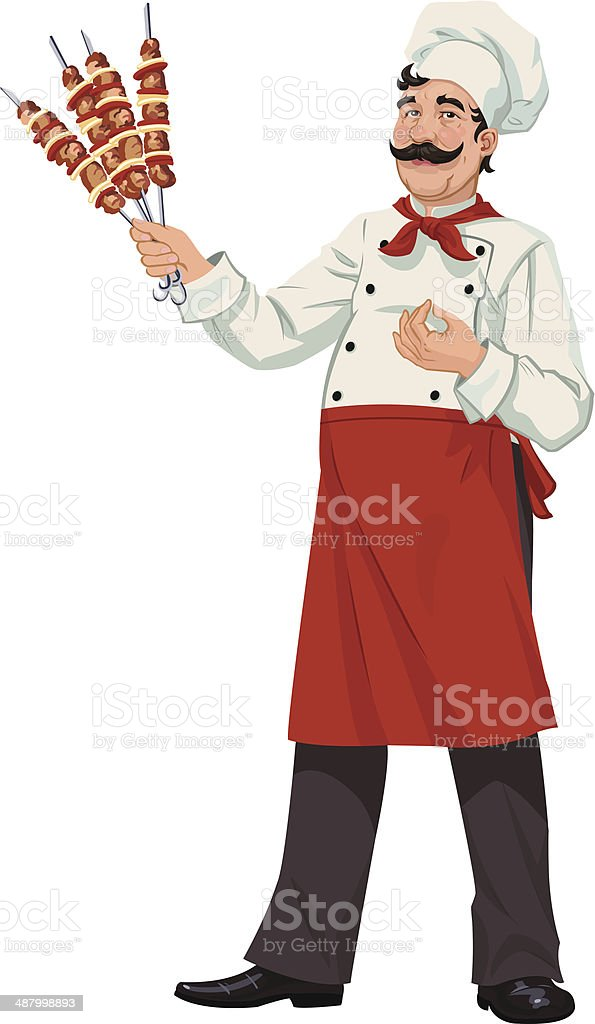 Happy chef - illustrations royalty-free stock vector art
