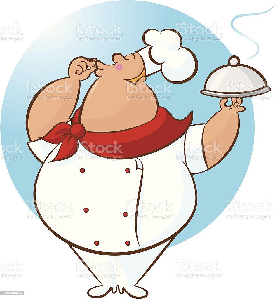 Happy Chef Magnifico! royalty-free stock vector art