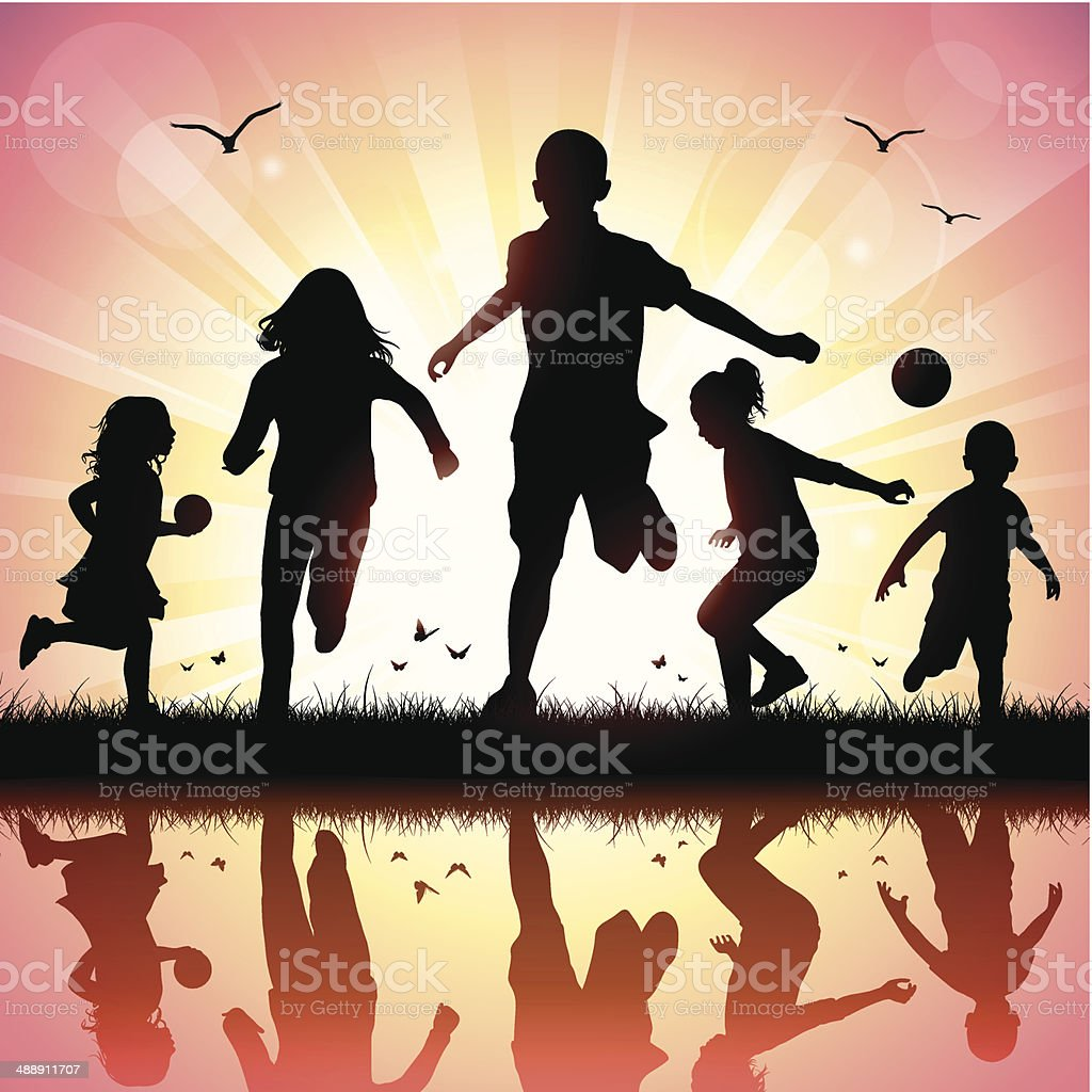 Happy Children vector art illustration