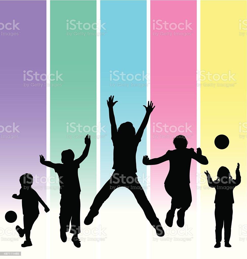 Happy Children vector art illustration