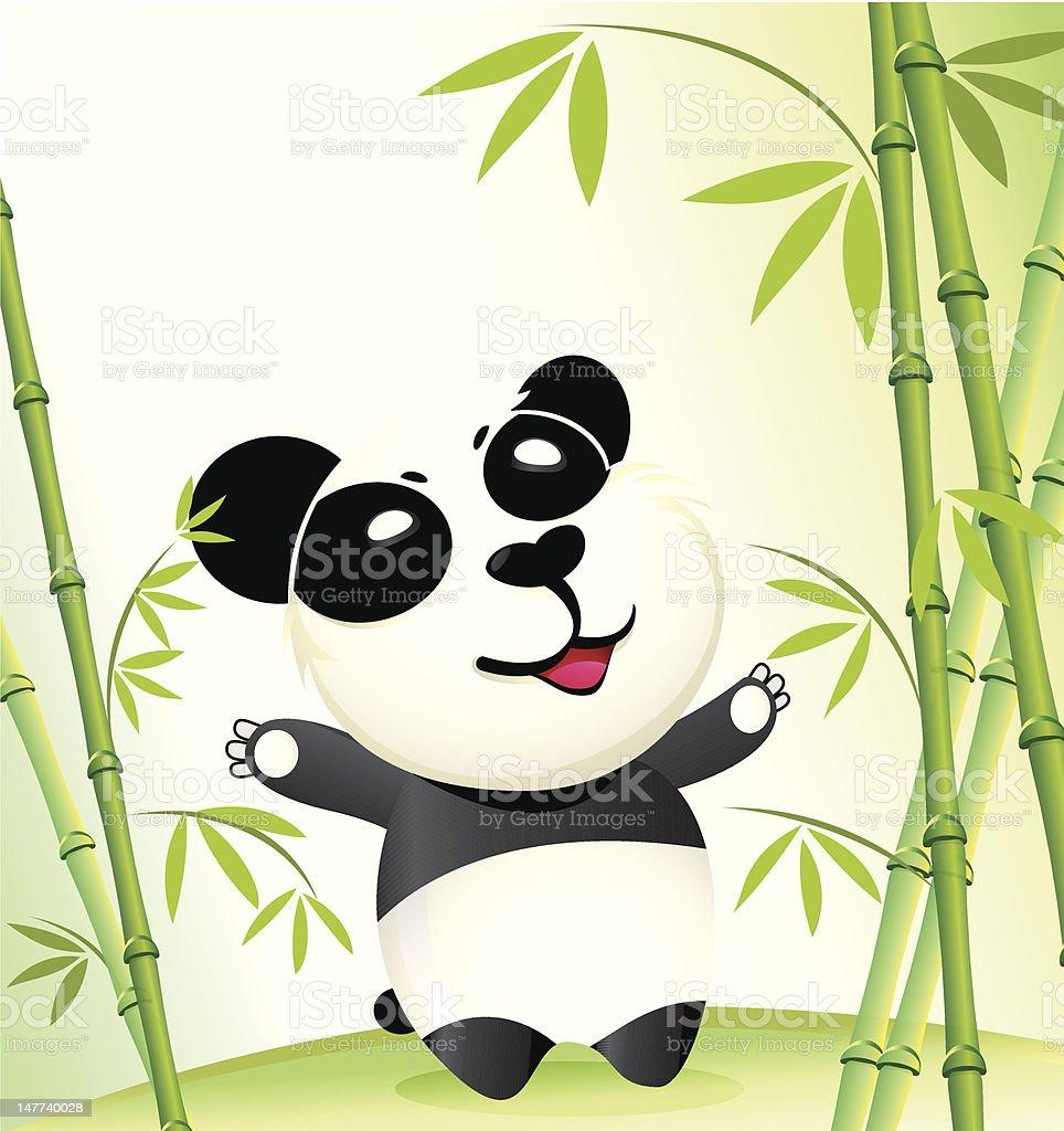 Happy China Panda vector art illustration